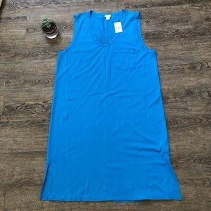 J. Crew Factory Cotton Pocket Tank Dress